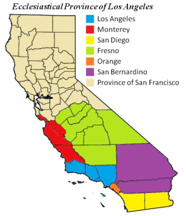 413px Ecclesiastical Province Of Los Angeles Map