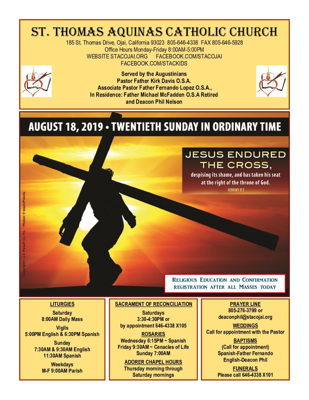 Parish News | St  Thomas Aquinas Catholic Church - Ojai, CA