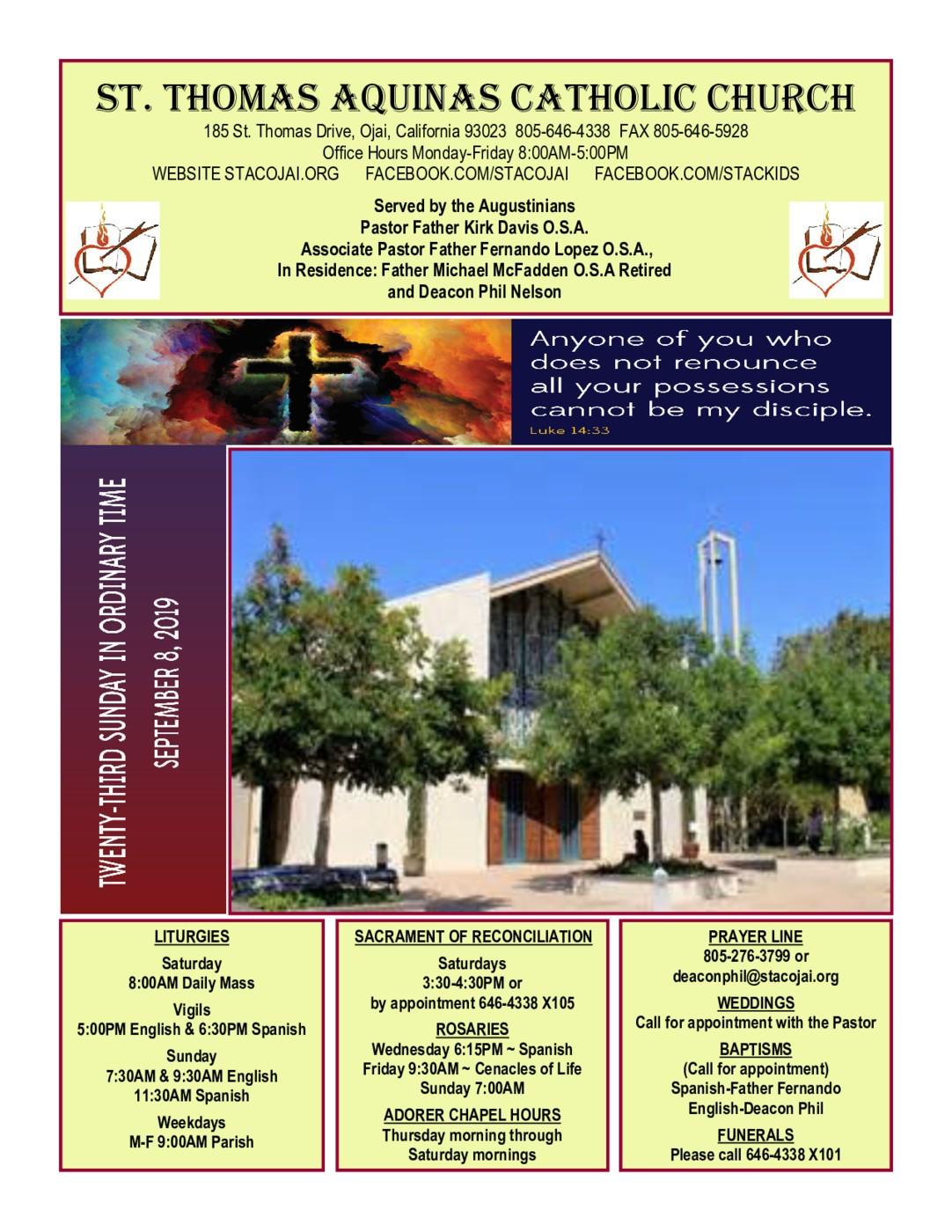 St  Thomas Aquinas Catholic Church - Ojai, CA | Served by