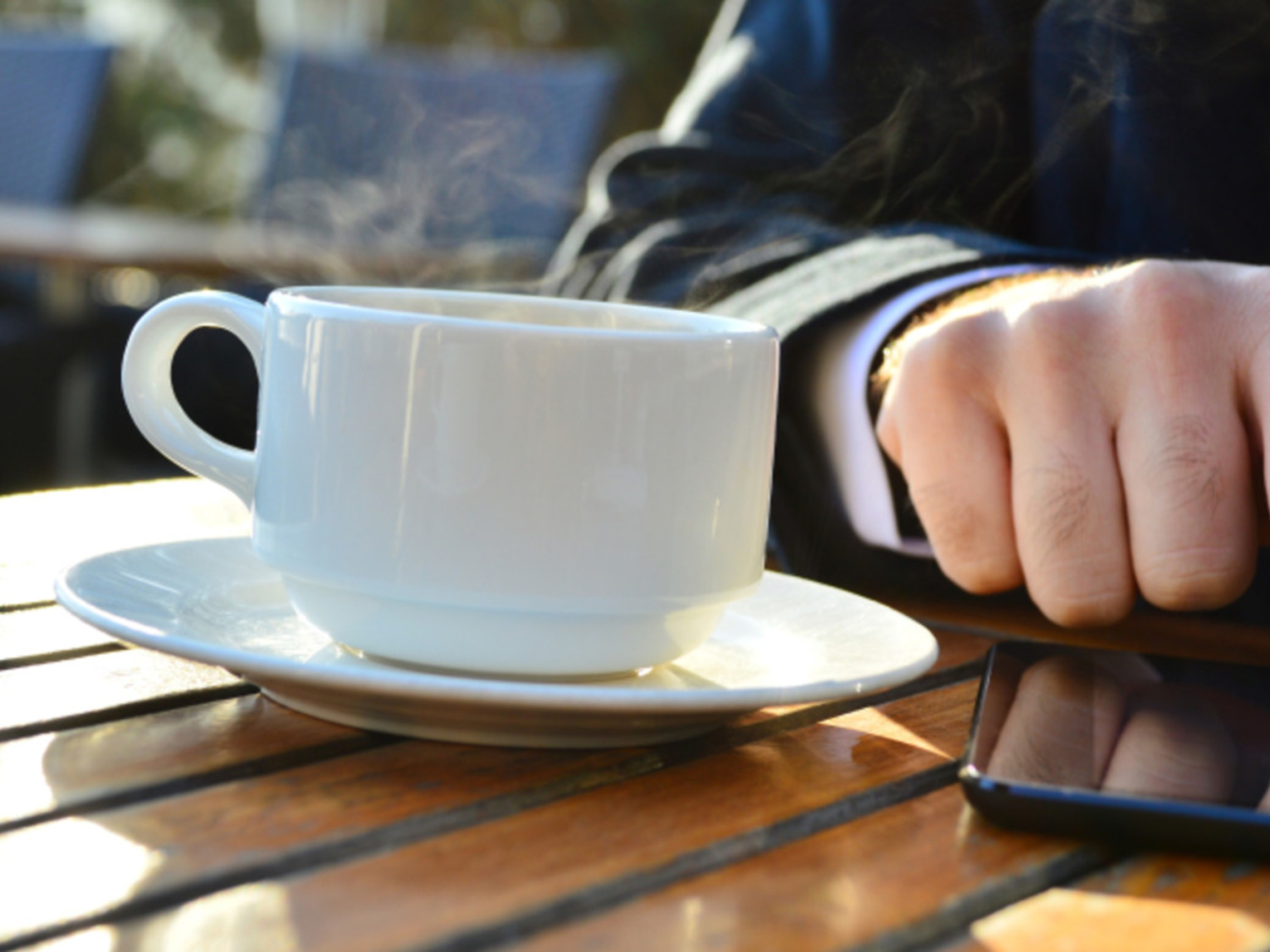 Coffee And Touchscreen
